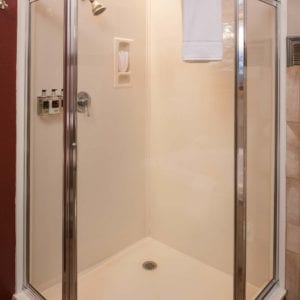 Large clean shower
