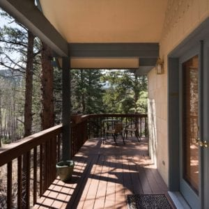 private deck and patio