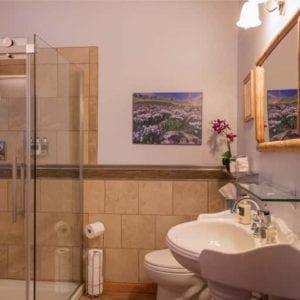 bathroom in pasqe flower