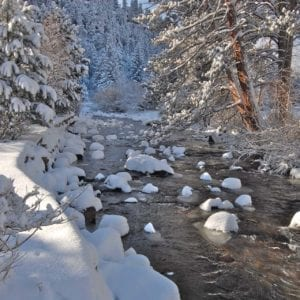 river running in winter