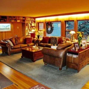 Romantic RiverSong living room and library