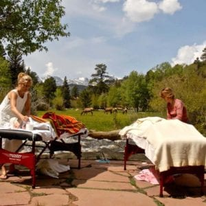 outdoor couples massage