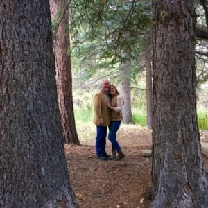 elopement couple in forest