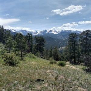 hiking trail view above the Inn