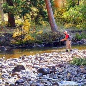 Fishing on the river at Romantic RiverSong