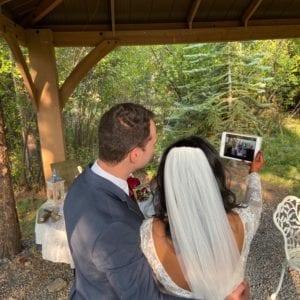 Zoom wedding at Romantic Riversong
